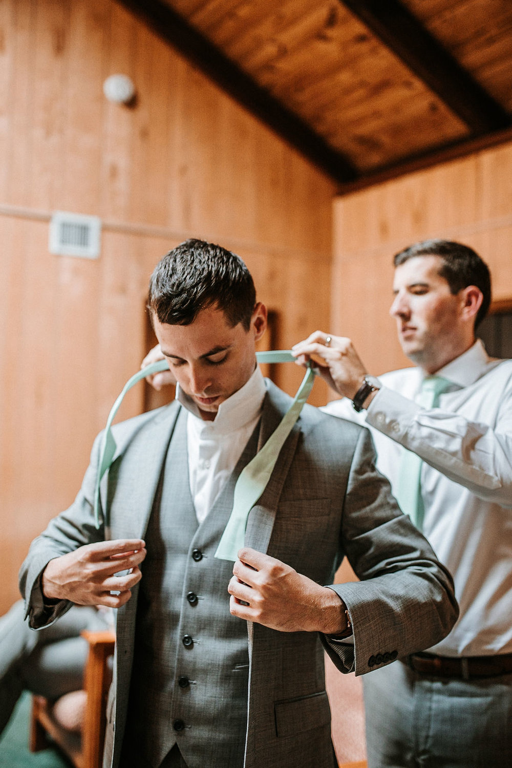 Groom Getting Ready at The Woodlands at Algonkian
