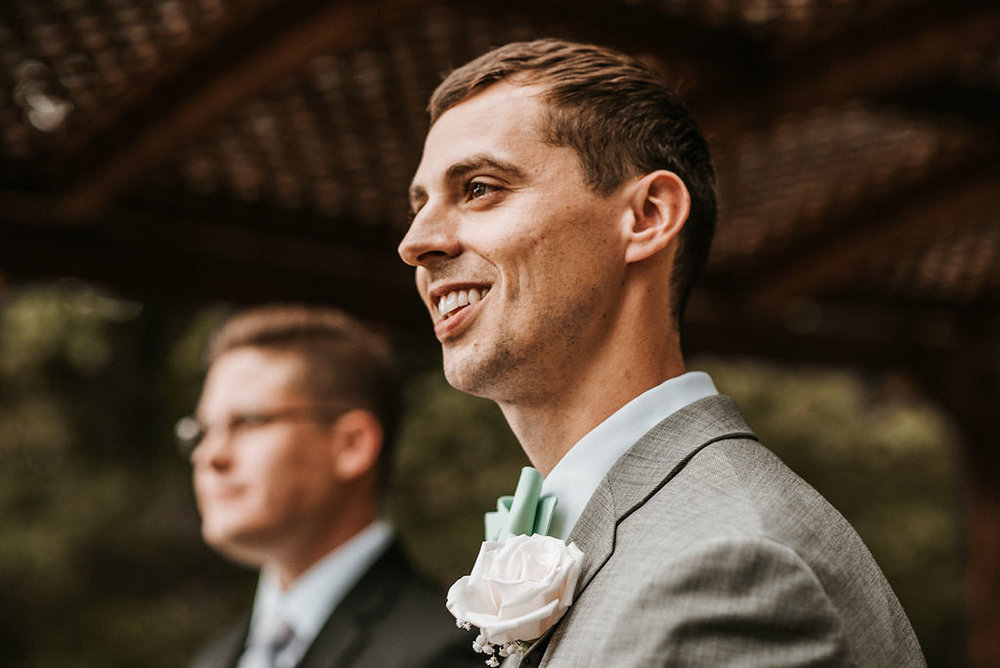 Groom seeing Bride for First Time at The Woodlands at Algonkian