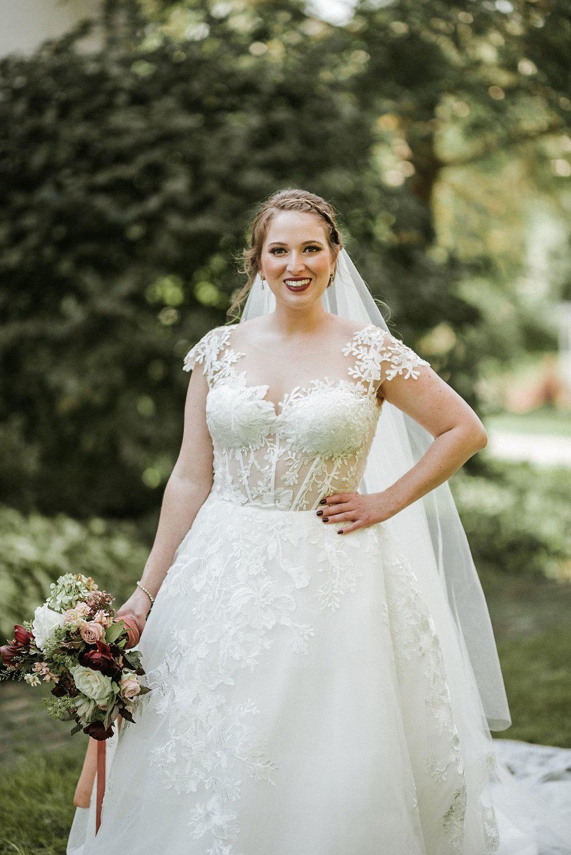 portrait of bride at Historic Rosemont Manor