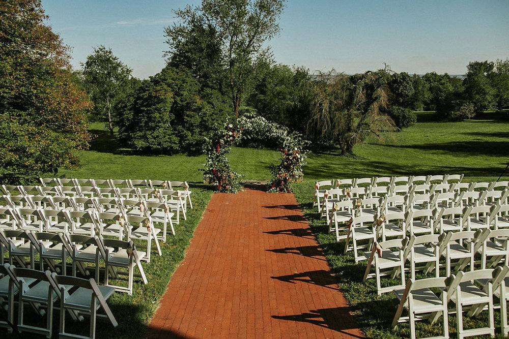ceremony shot at Historic Rosemont Manor