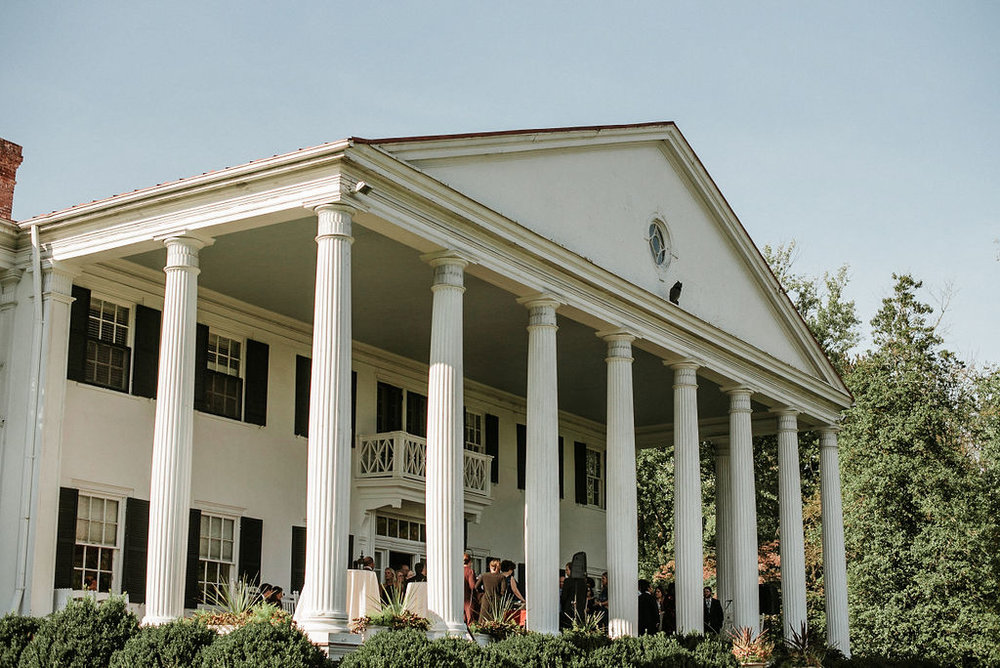 architecture shot of the outside of at Historic Rosemont Manor