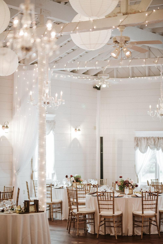reception detail shot at Historic Rosemont Manor
