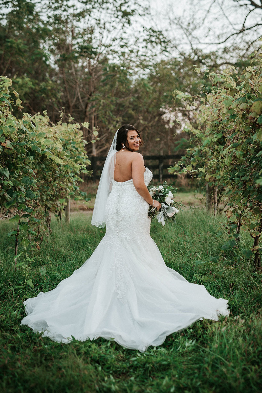 Bride Portrait at Blue Valley Vineyard