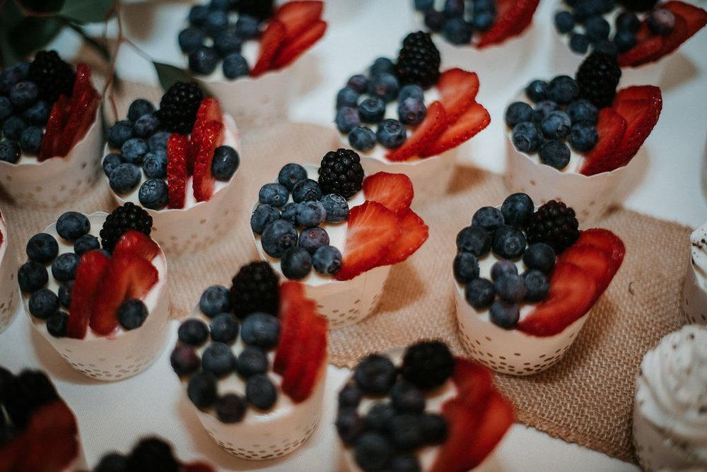 detail shot of desserts at 48 Fields Farm