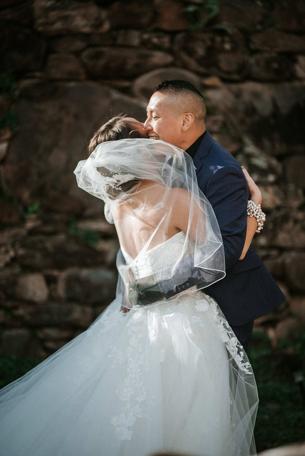 first look with bride and groom at kimble farm