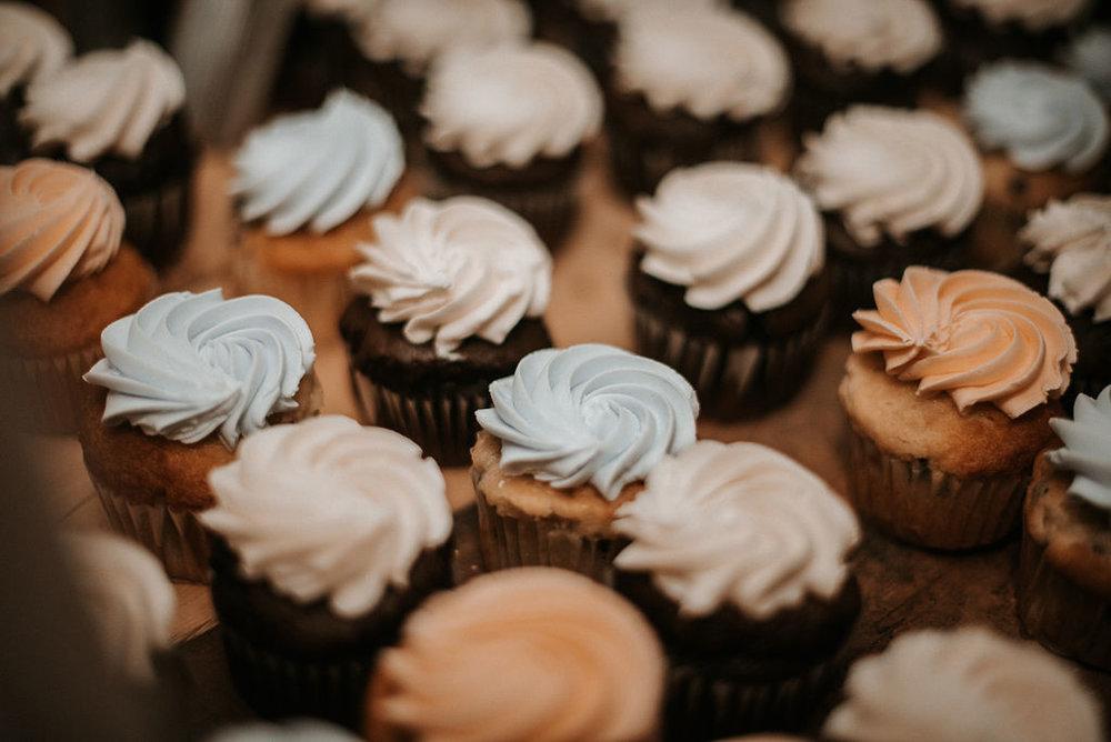 detail shot of cupcakes at kimble farm