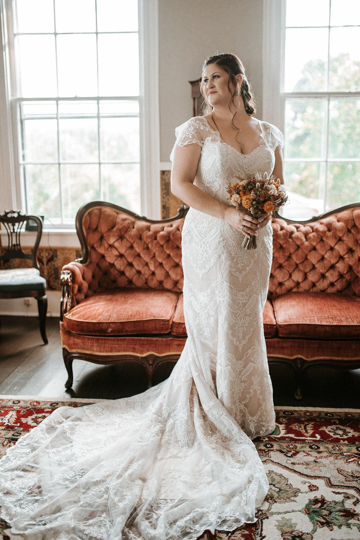 bridal portrait at mayneview b&b photo