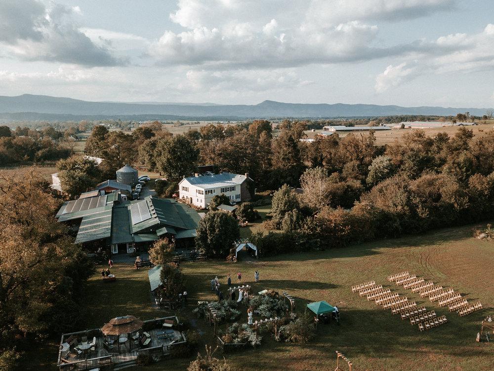aerial drone view of khimaira farm