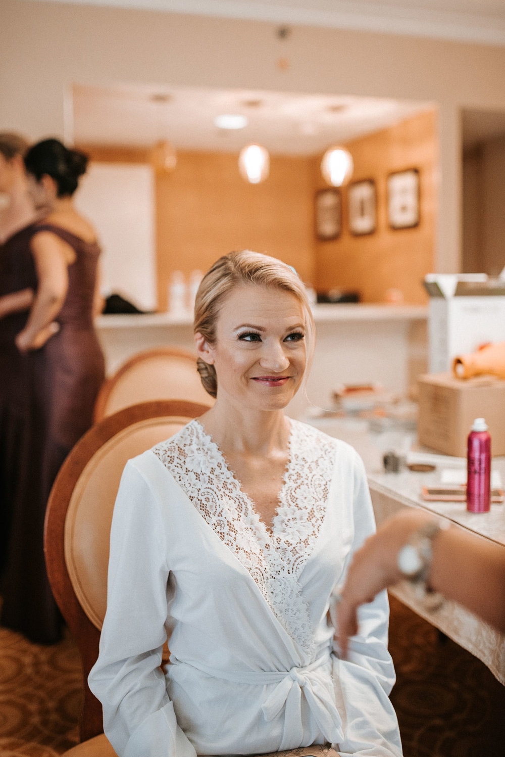 bride getting ready at St. Mark Orthodox Church