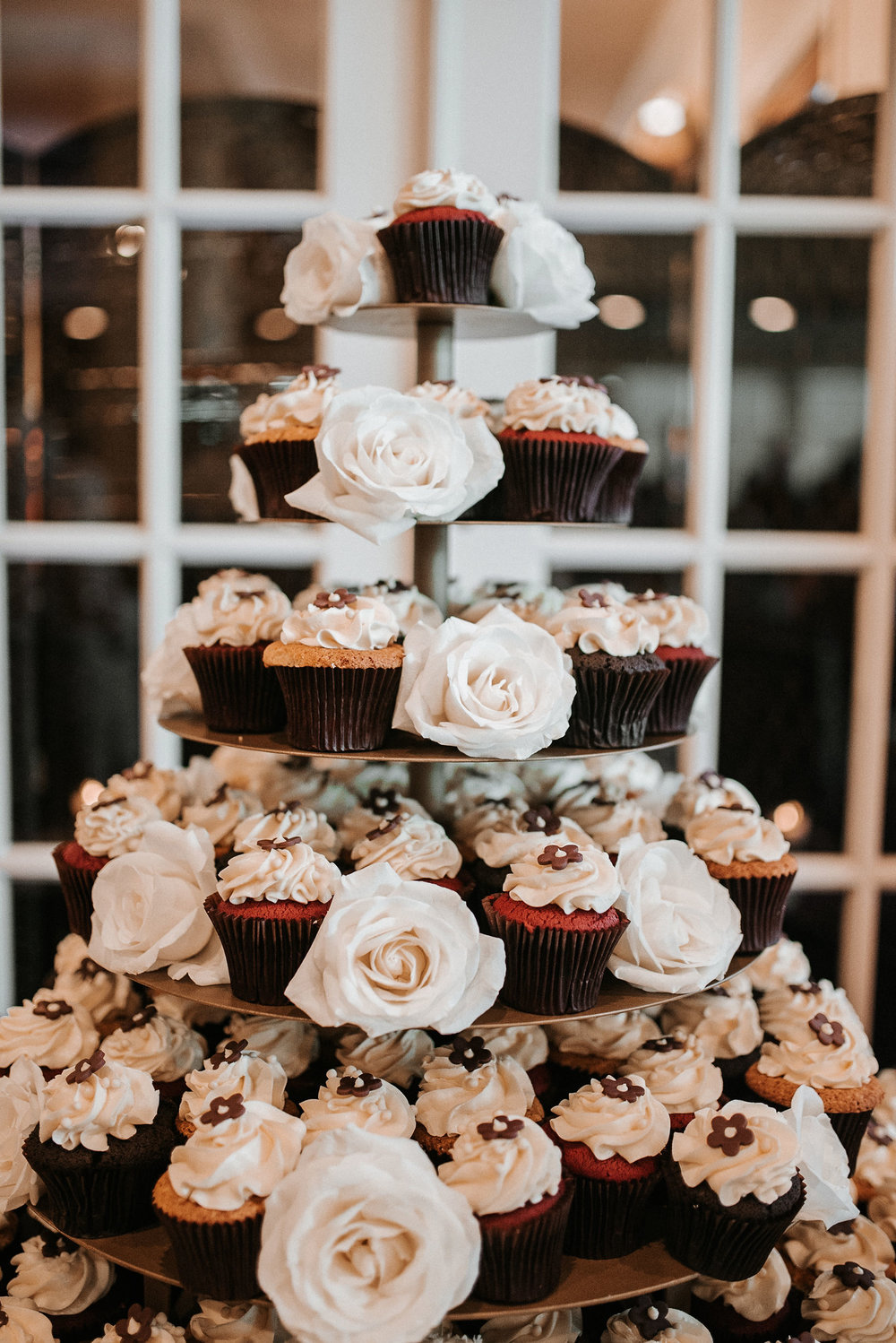 detail shots of wedding cupcakes at St. Mark Orthodox Church