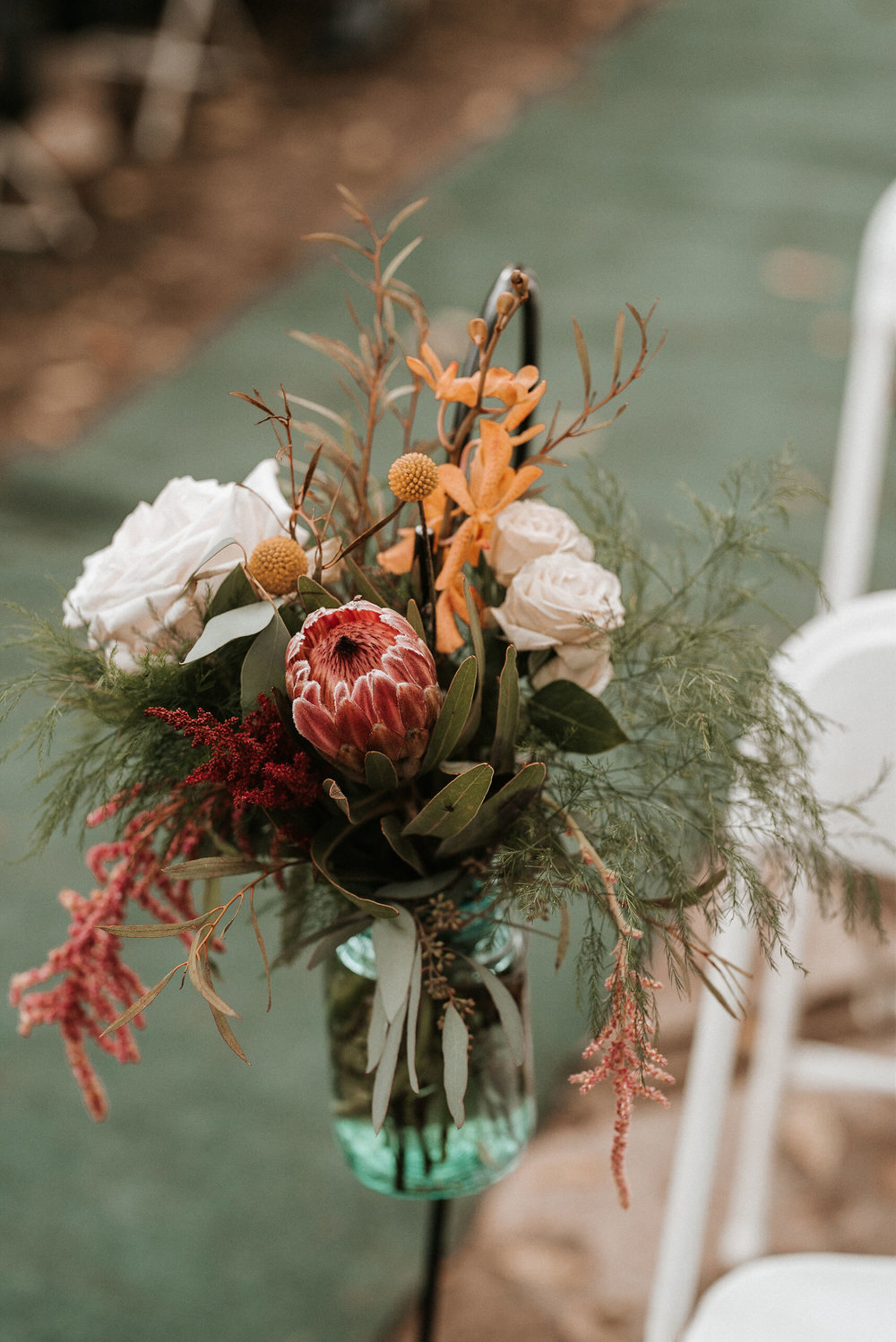 detail shot of ceremony site at Braehead Manor