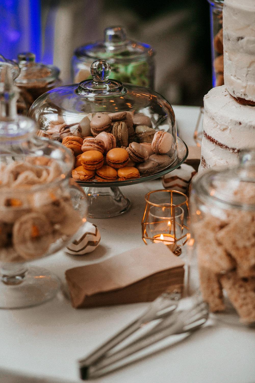 dessert table at Braehead Manor