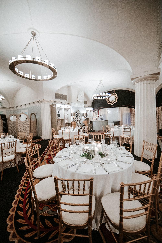 reception site at Hotel Monaco