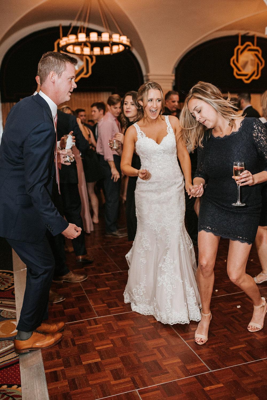 bride and groom dancing at Hotel Monaco