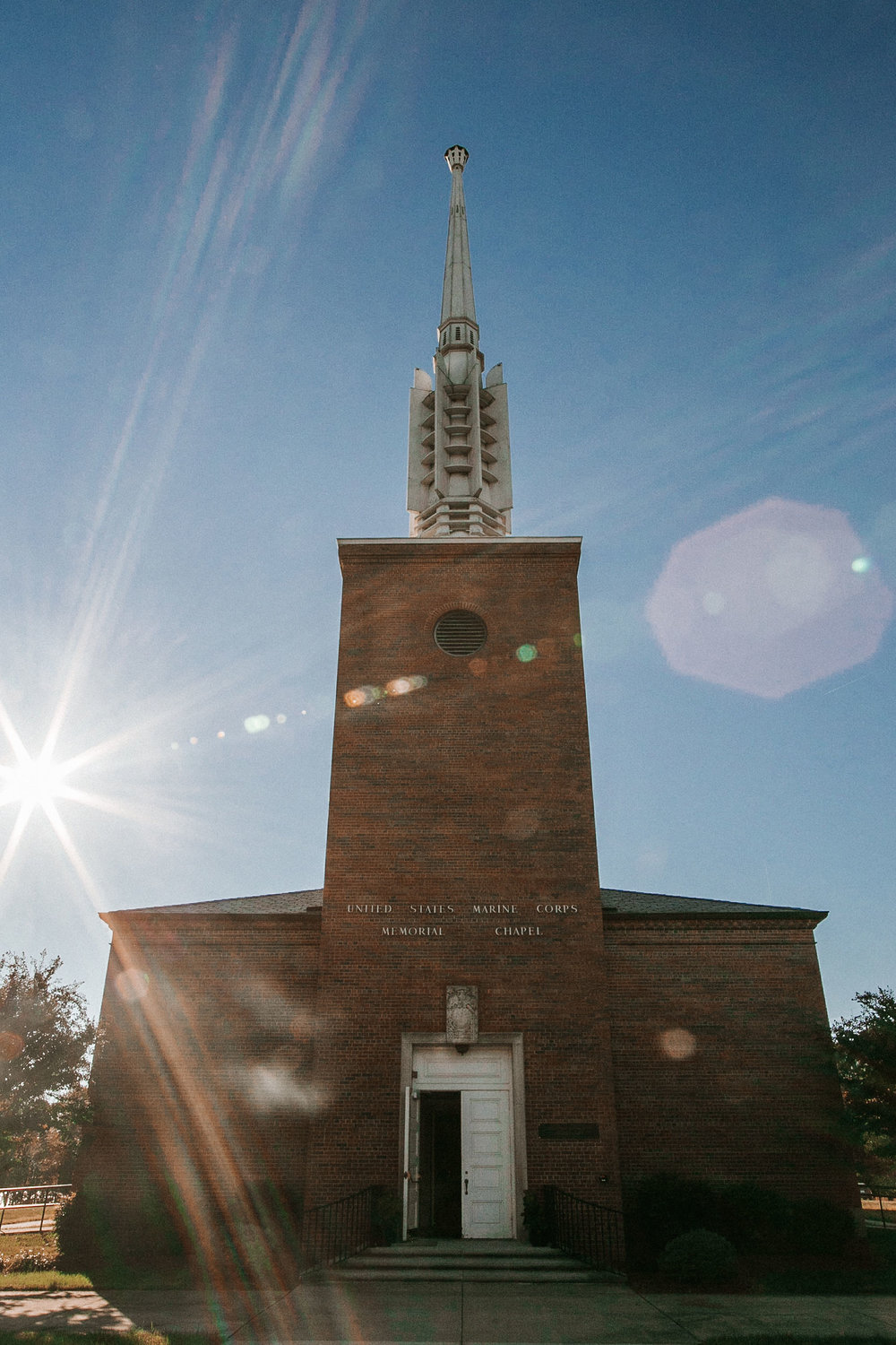 ceremony site at the united states marine corps memorial chapel