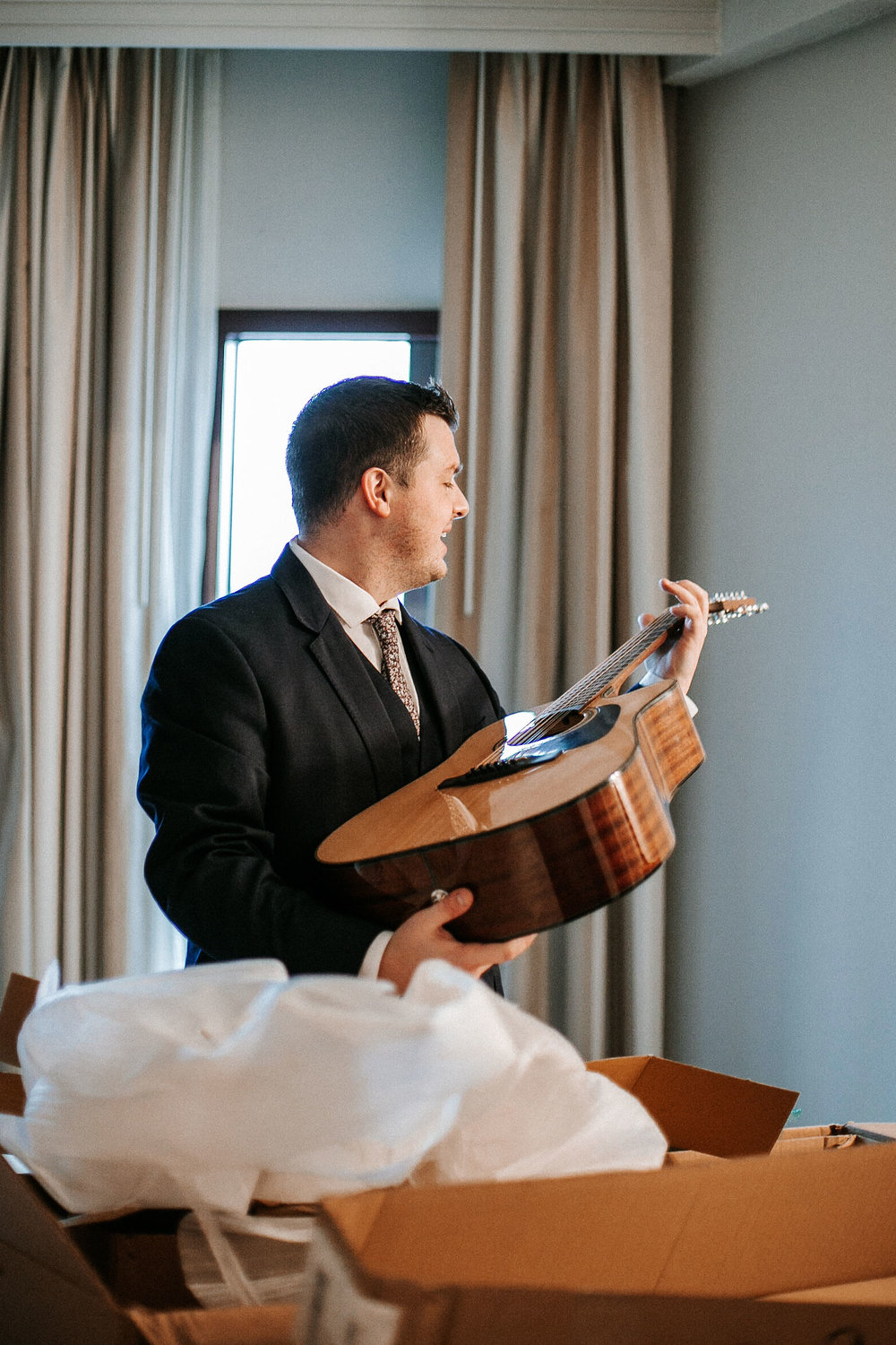 groom opening present from bride The George Washington Masonic National Memorial