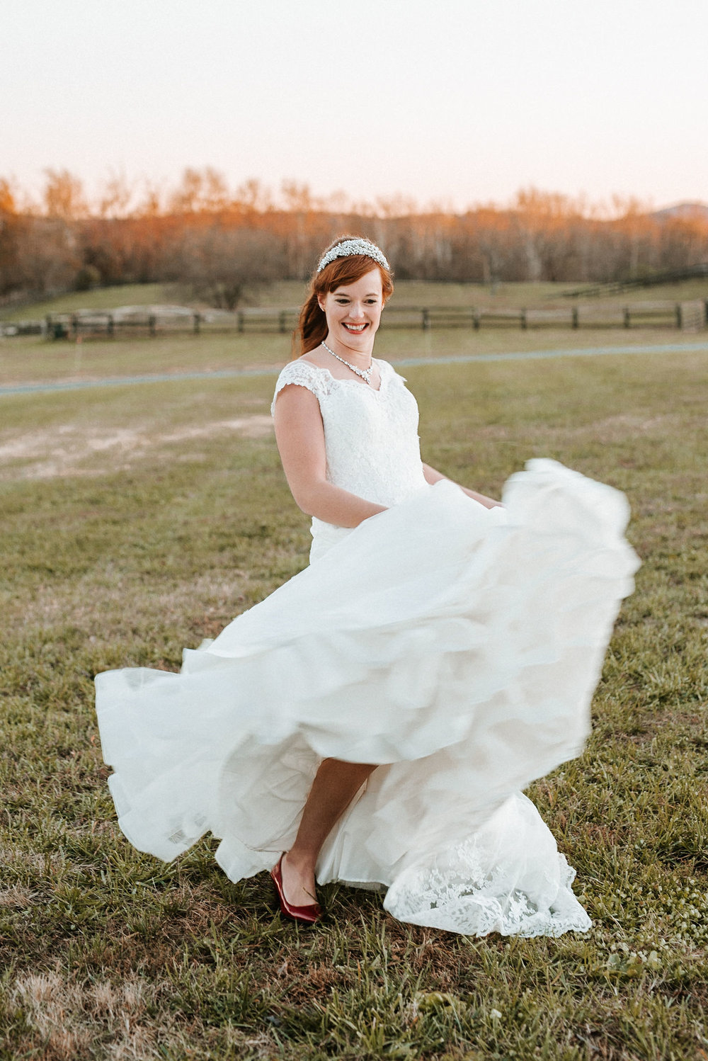 bridal portrait at The Middleburg Barn at Fox Chase Farm