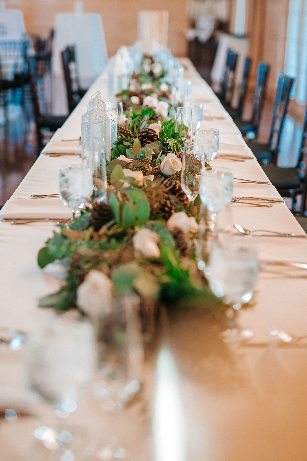 detail shot of table at The Middleburg Barn at Fox Chase Farm