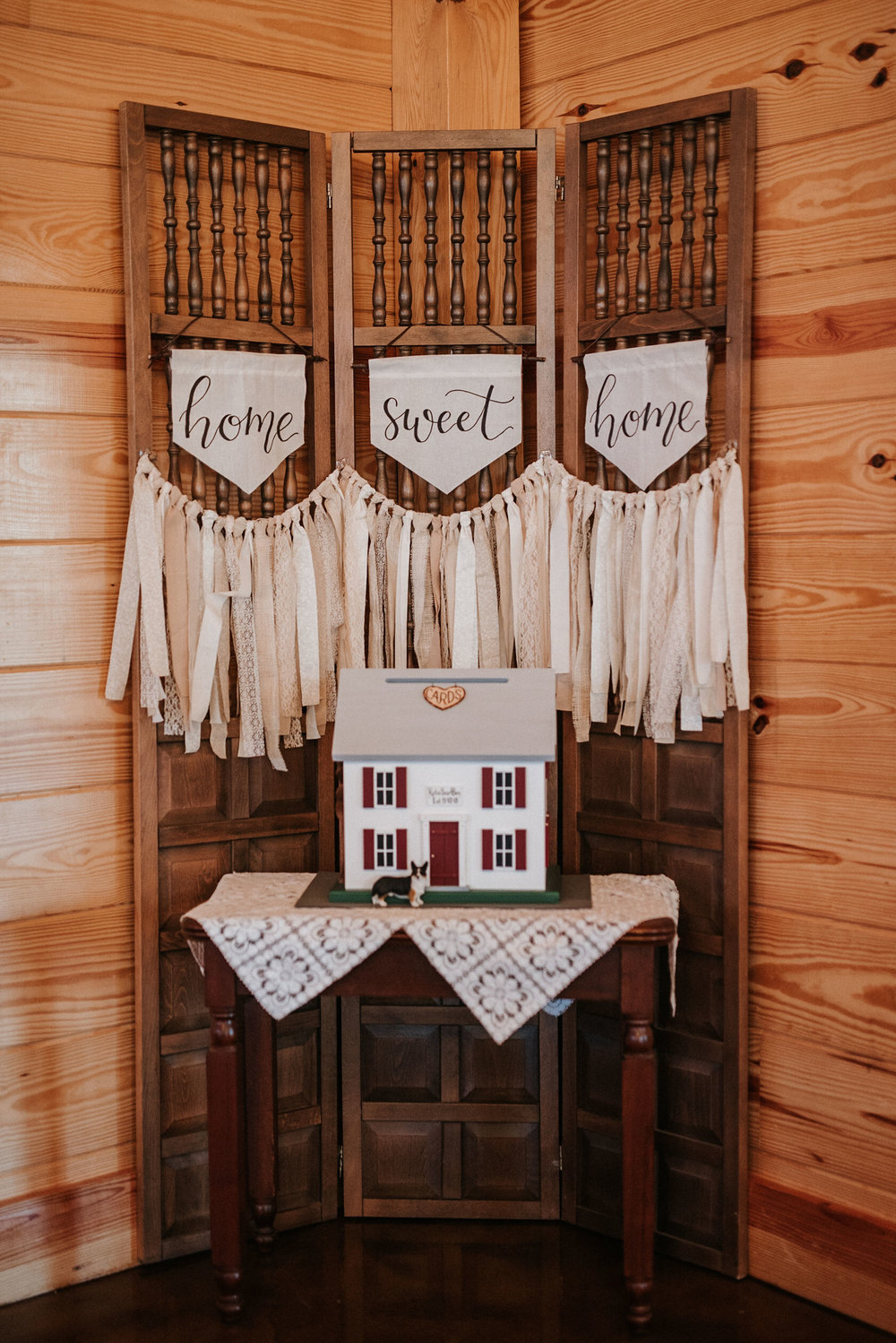 detail shot of reception details at The Middleburg Barn at Fox Chase Farm