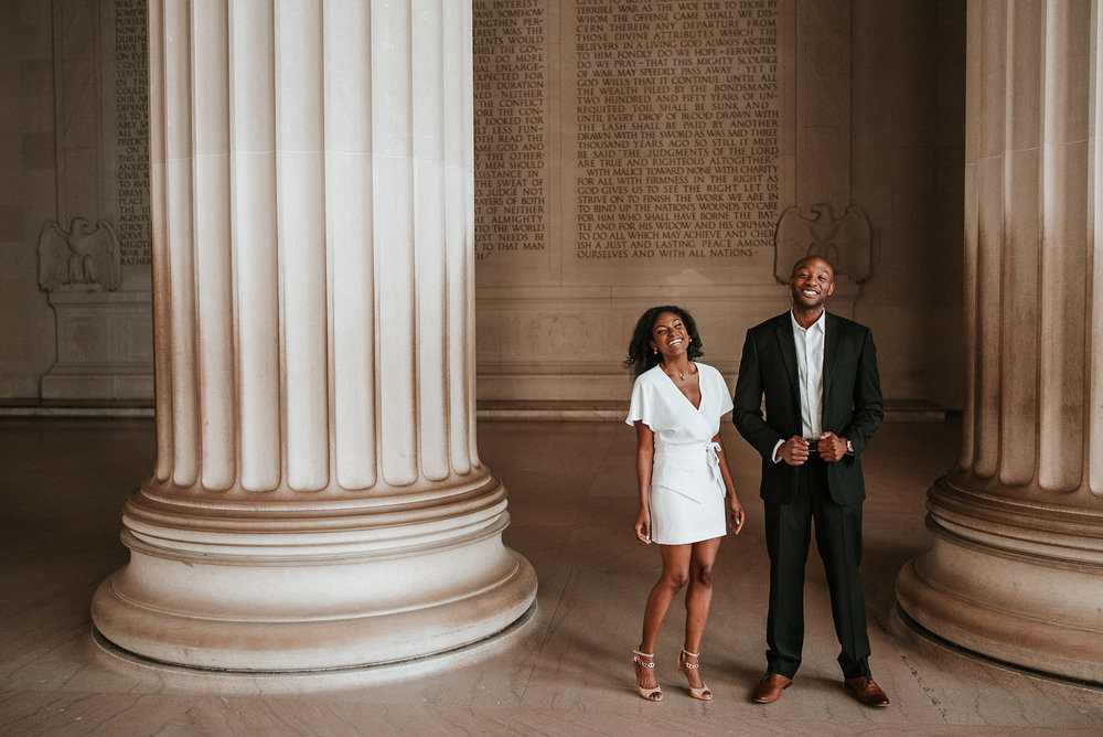 Engagement Session at Lincoln Memorial
