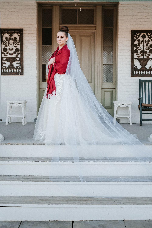 bridal portrait at Whitehall Estate