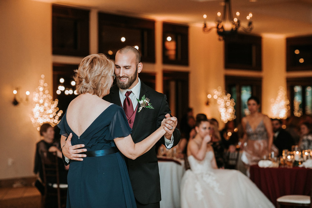 groom and his mother dancing at Whitehall Estate