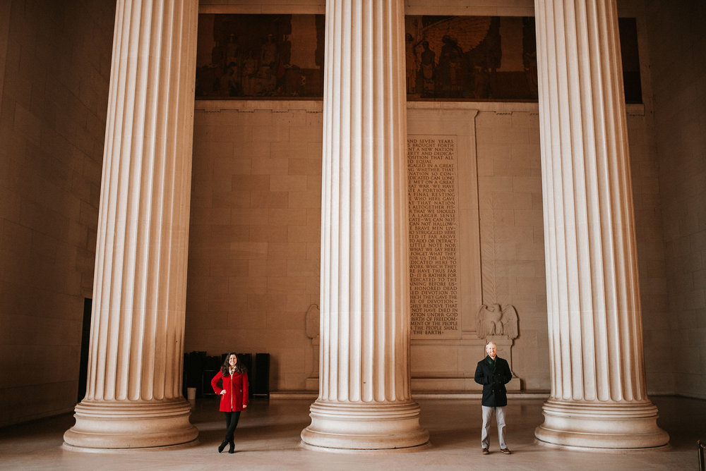 Engagement Session at the Lincoln Memorial in Washington DC