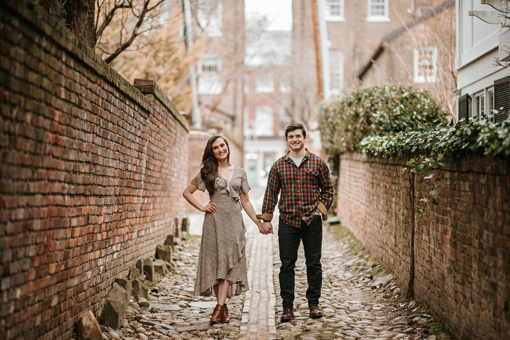 Engagement Session in Old Town Alexandria, VA