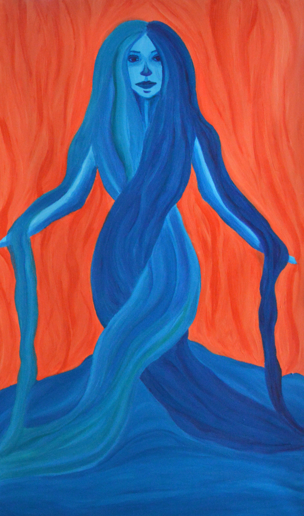 Mary, Mother of Earth, Mother of Light, 2006, Acrylic, 24.25 x 40.25 in