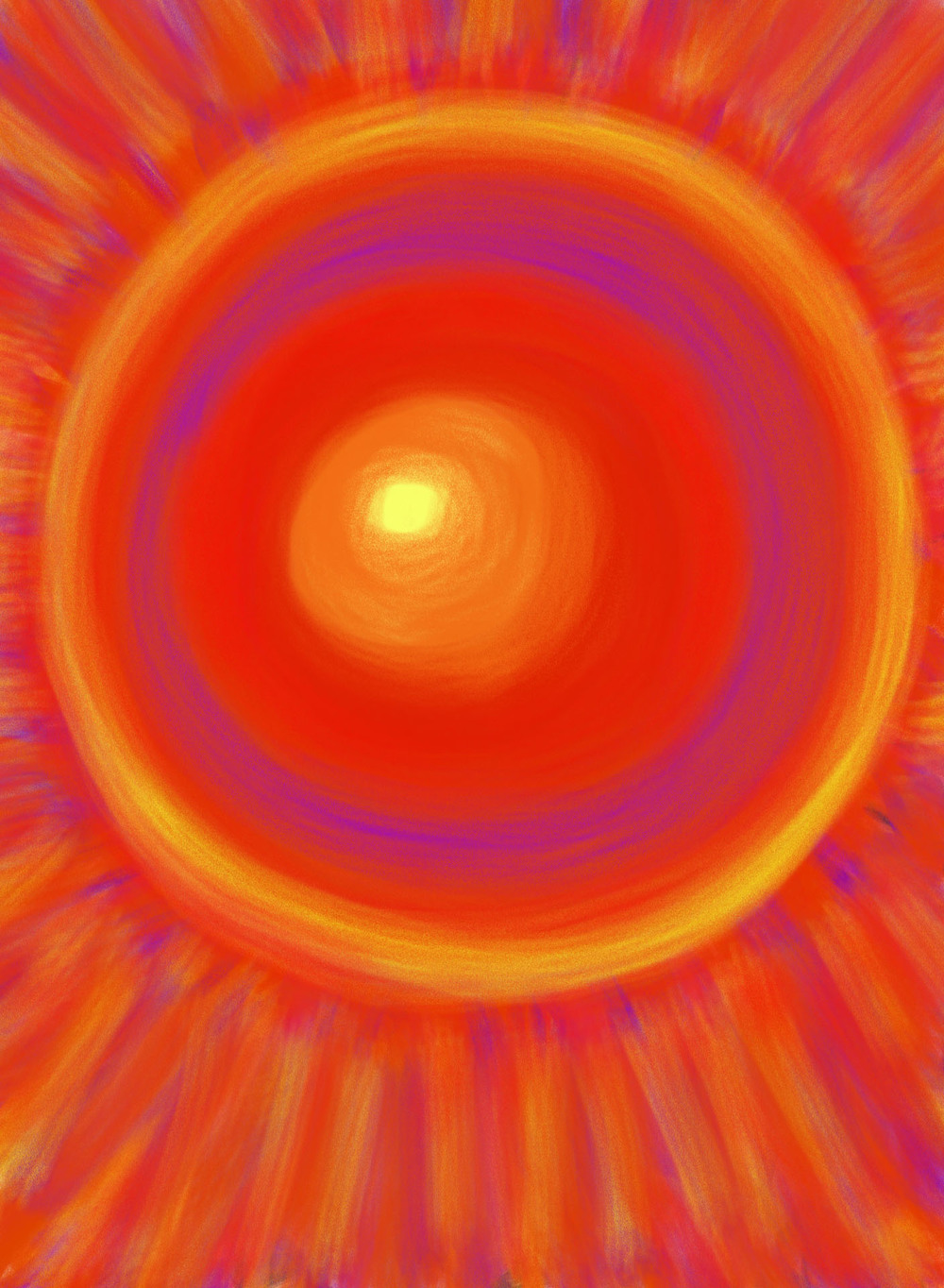 Desert Sunburst , 2012, Digital Art