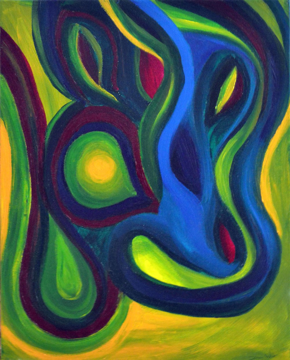Emerald Dreams , 2012, Acrylic, 16 x 20 in