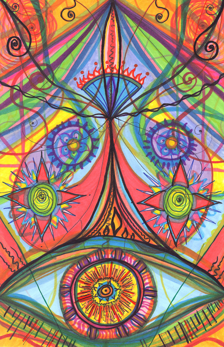 Portal of Desire, 2015-2016, Marker, 5.5 x 8.5 in