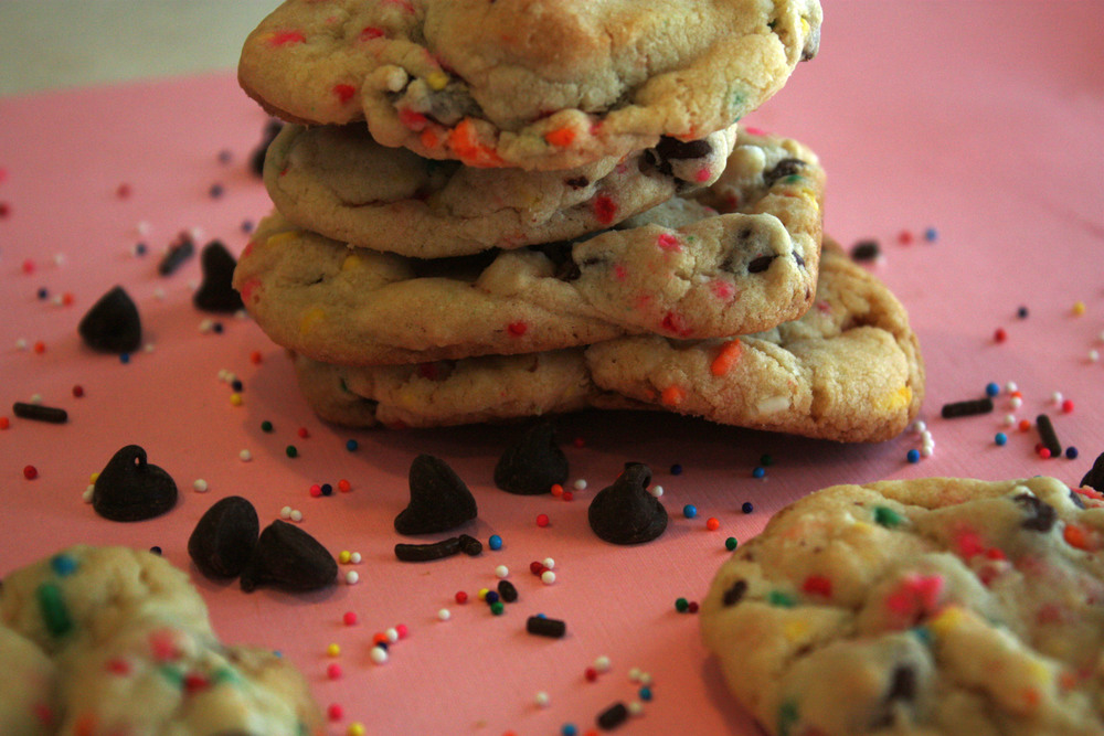 Moist cookies - chocolate chips, sprinkles, and other surprises!