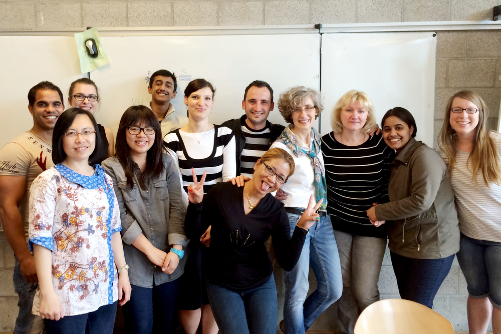 The last day of my first German class! It was so great!