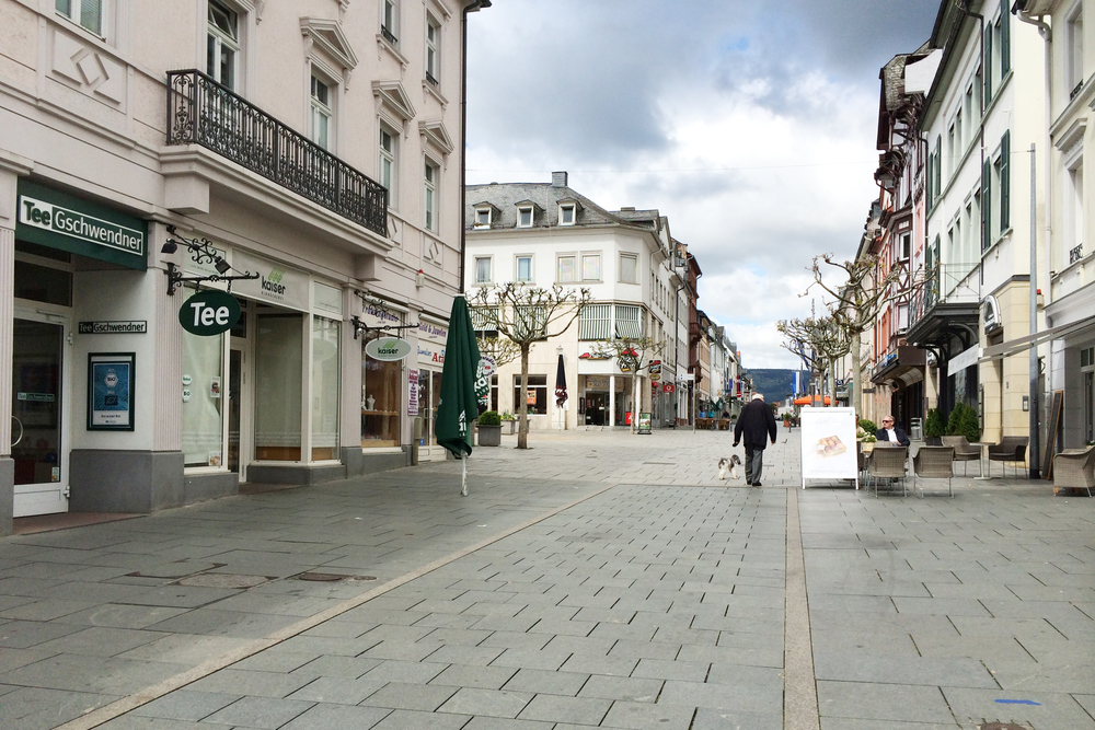 Bad Homburg—it was so empty for Easter break! Everything is closed for Easter.
