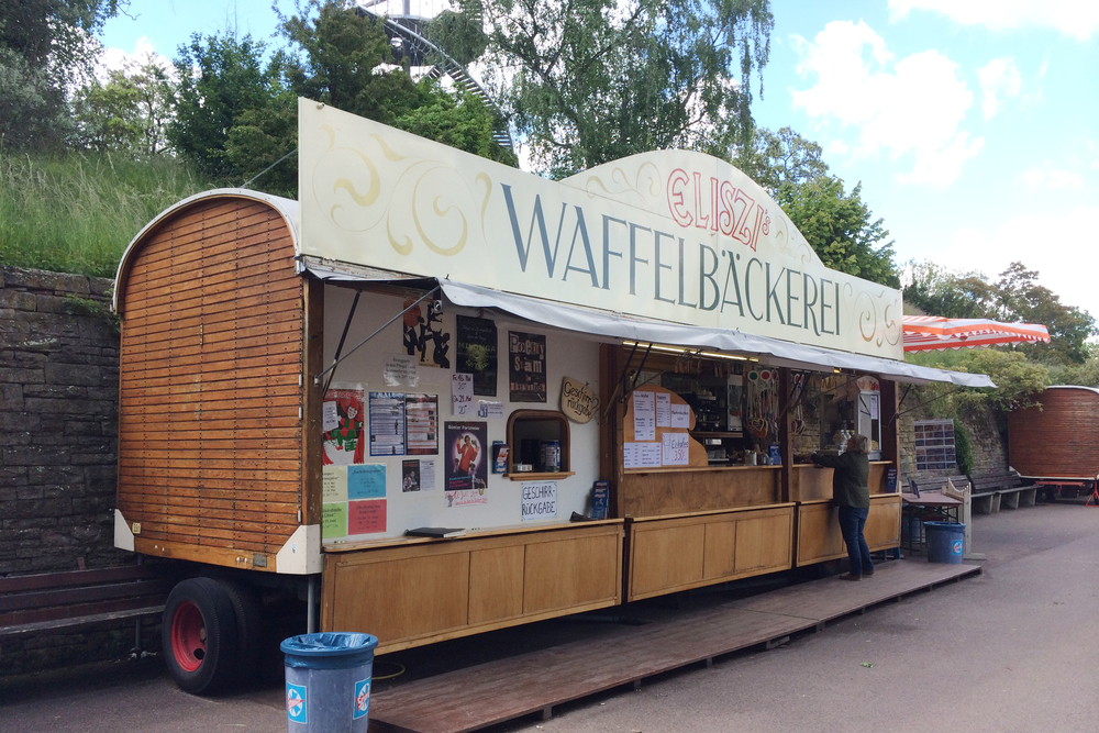 We got a waffle here, and it was delicious.