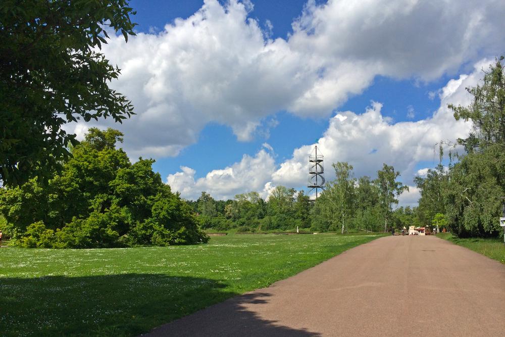 Entering the park.