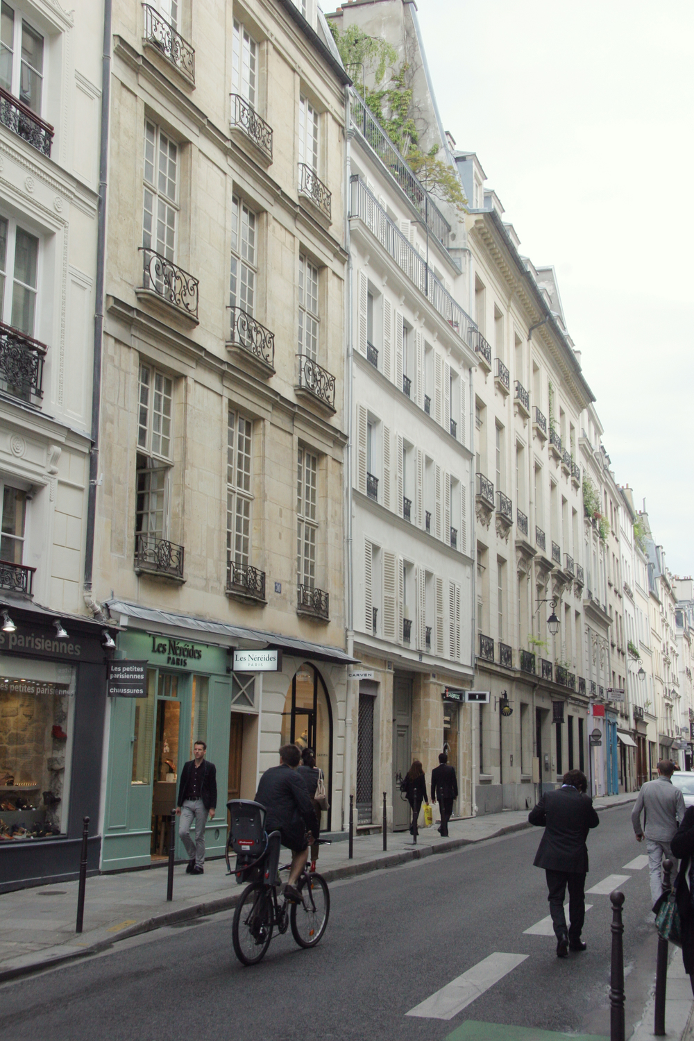 I love the tall, light apartments and all the  boutiques and restaurants in Paris!