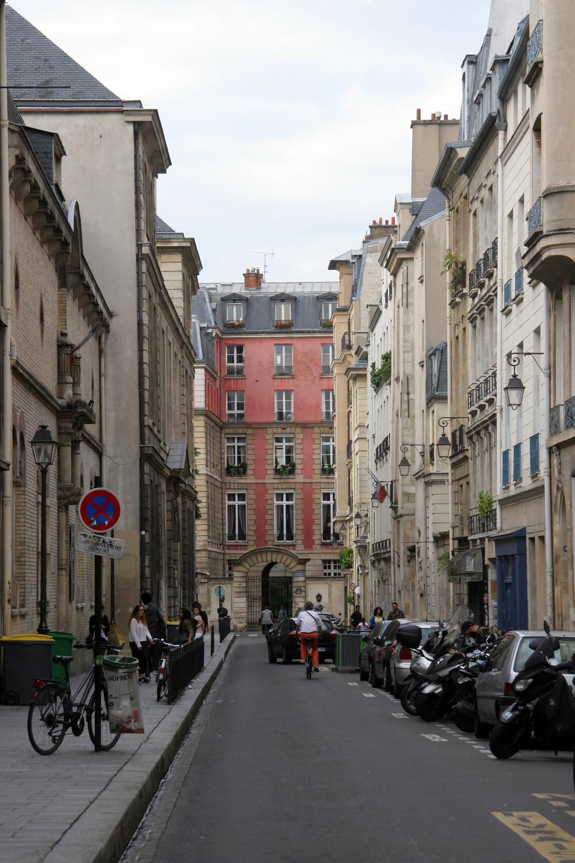 Down a Parisian street.