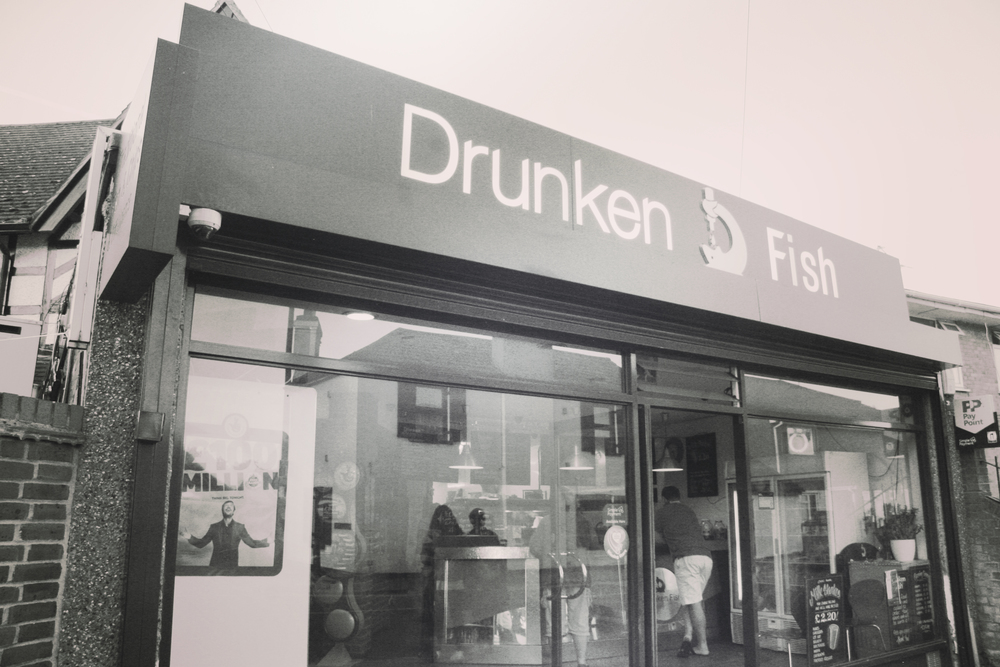 We had Fish & Chips at the Drunken Fish :)