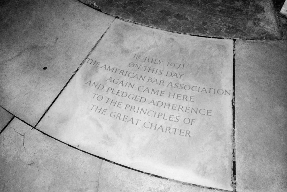 At the Magna Carta memorial.