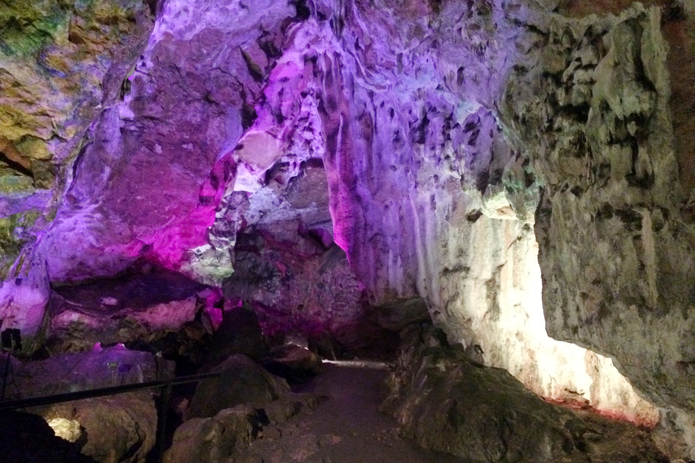 Near the end, we found a cave-of-wonders of sorts, with color-changing lights!