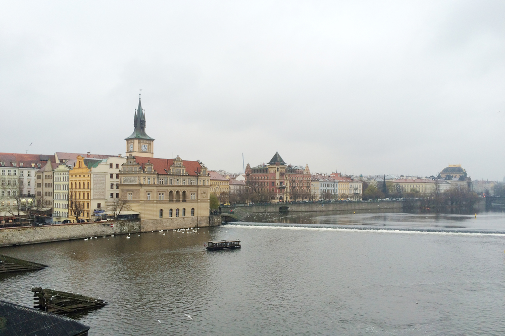 View from the Charles Bridge.