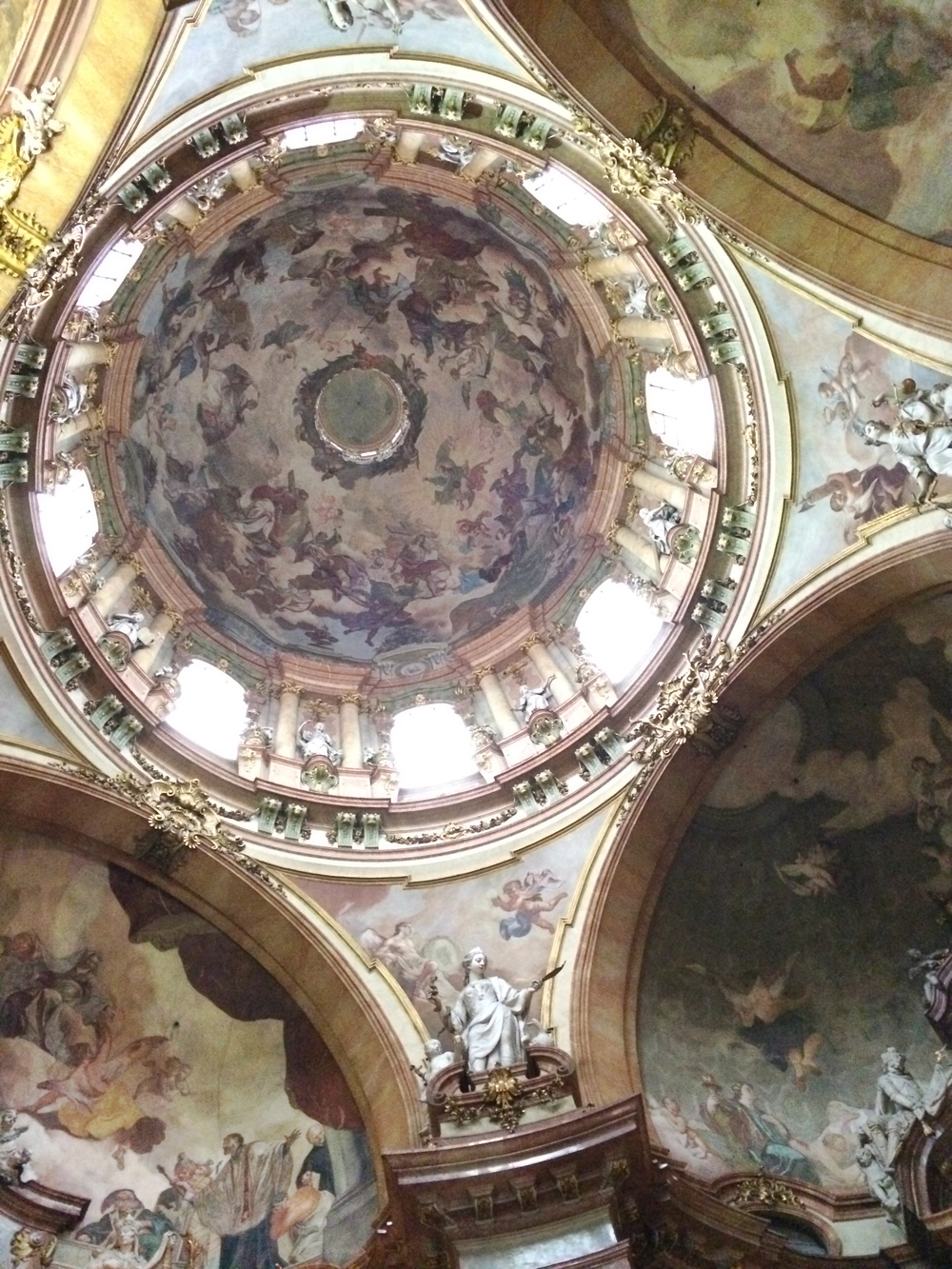 A view of the ceiling the St. Nicholas church.