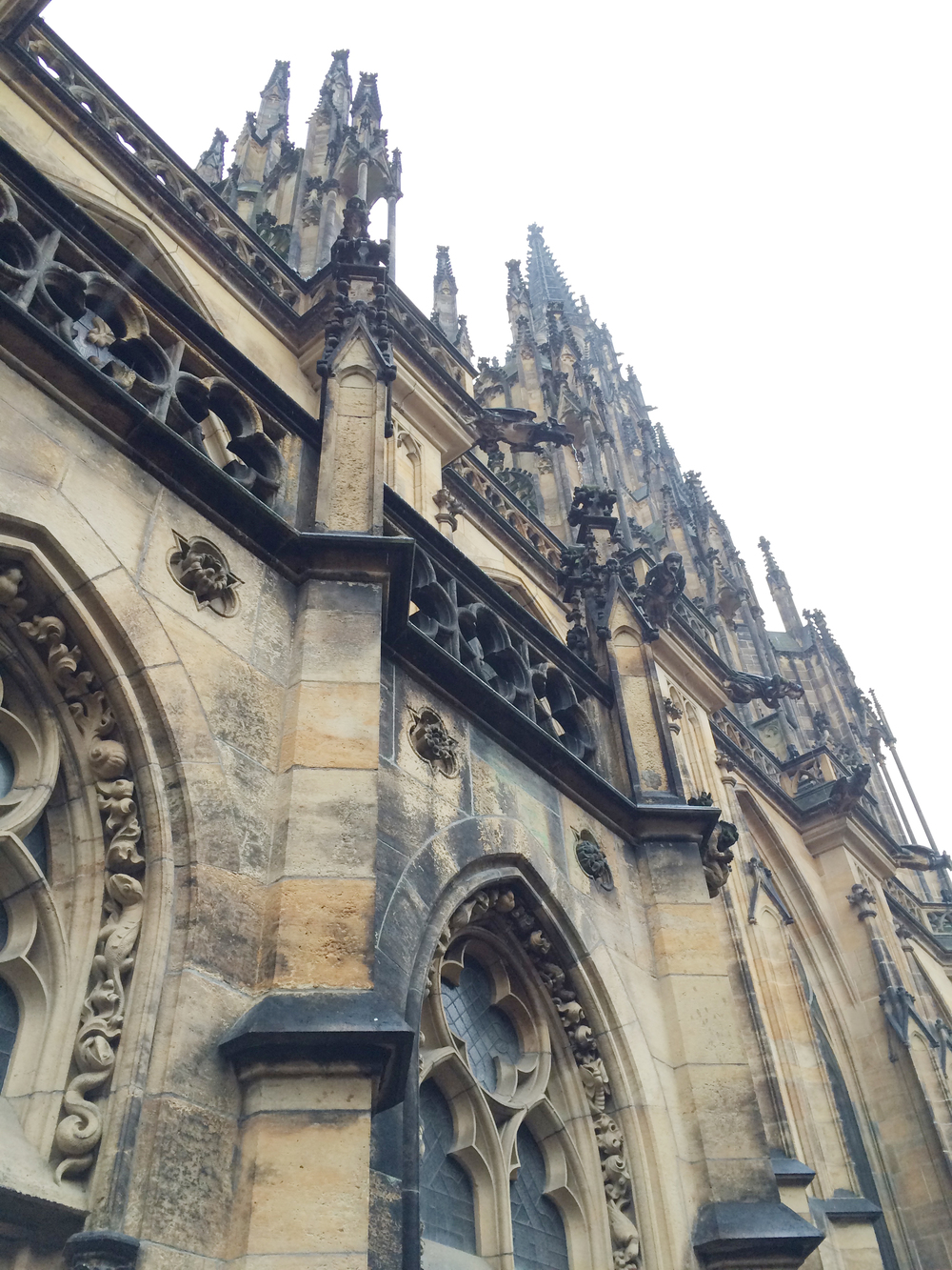 The exterior of the St. Vitus Cathedral.