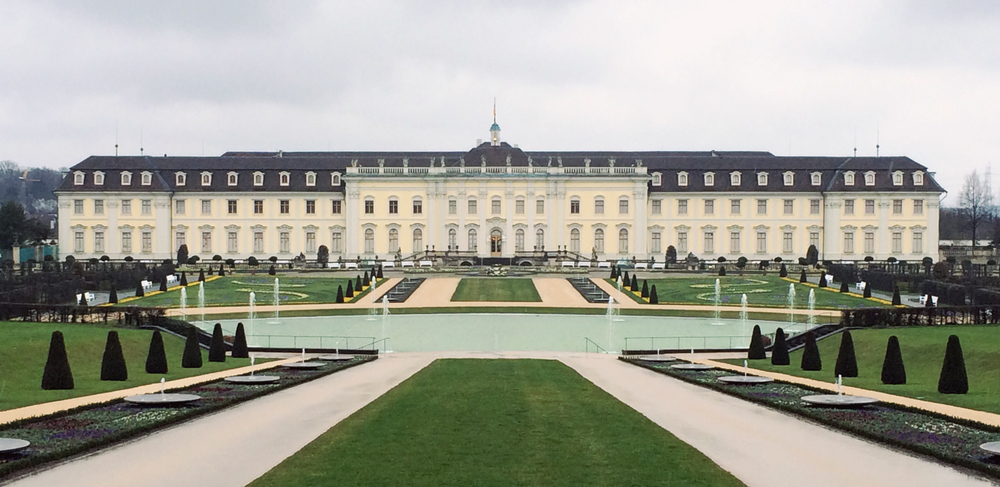 Ludwigsburg Palace in Germany. I imagine that the  Edenbrooke  house would have the same feel.