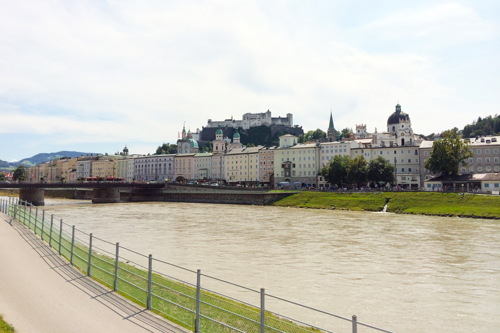 The river in Salzburg, Austria.