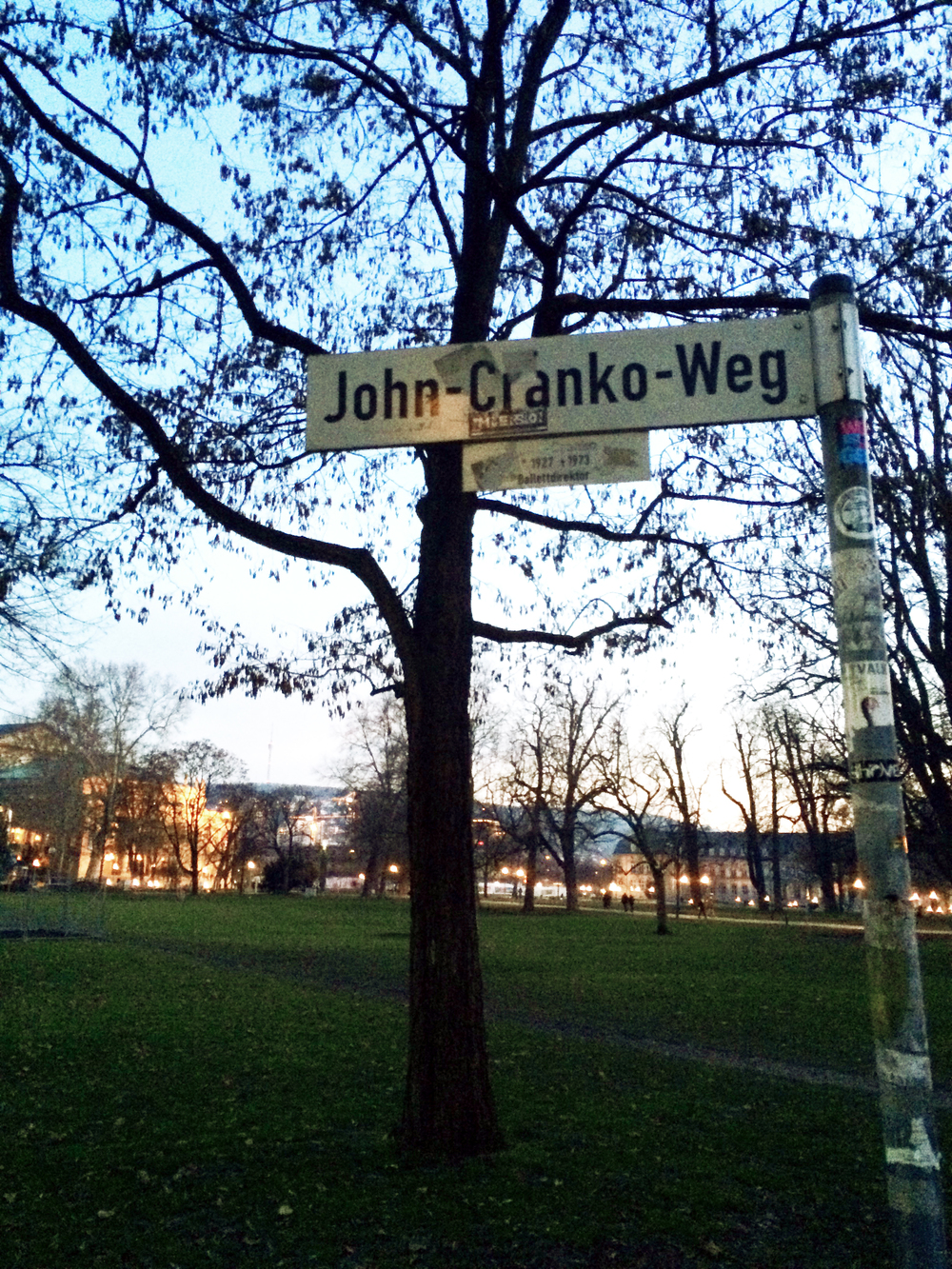 As I was leaving, I noticed the name of the street by the Opera House — John Cranko Way! It felt so perfect to be strolling down his street after just watching his ballet on its 50th anniversary. A great ending to the night!