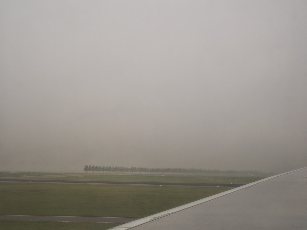 Landing at Amsterdam Schipol