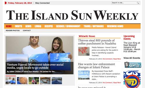 Featured on Island Sun Weekly